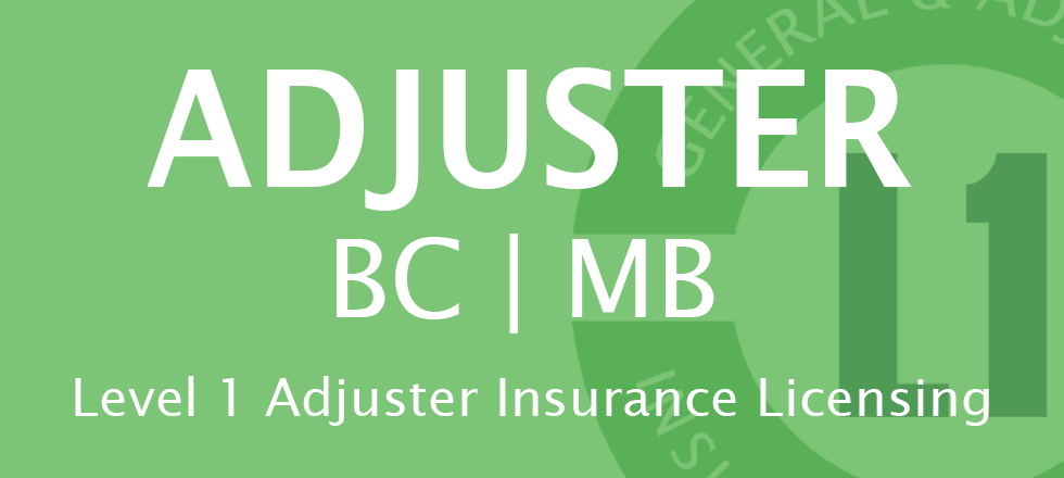 Adjuster. BC/MB. Level 1 Adjuster Insurance Licensing (more info)