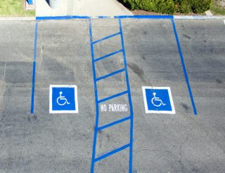 Disability parking sign
