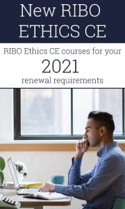 New RIBO Ethics CE - RIBO Ethics CE courses for your 2021 renewal requirements